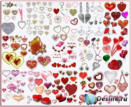 Клипарт - Сердечки 2