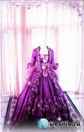 Женский костюм для фотошопа - Платье женское