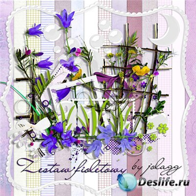 Скрап-набор - Фиолетовый
