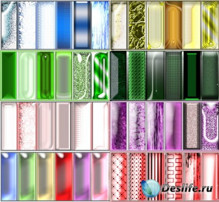 Стили для фотошопа - Разноцветное Стекло