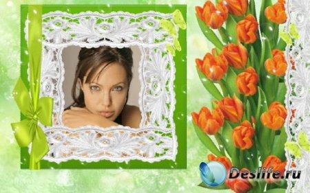 Рамка для фотошопа - Весенний Мотив