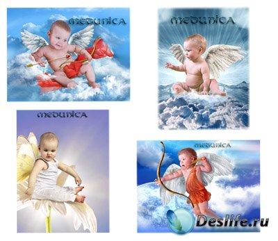 Детские костюмы для фотошопа - Ангелочки