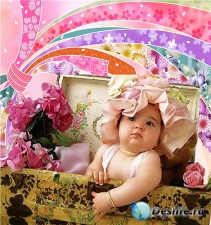 Детский костюм для фотошопа - Сюрприз из сундучка