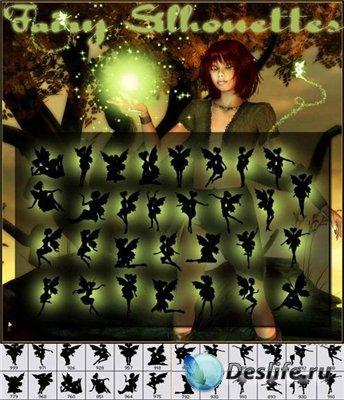 Кисти для фотошопа - Сказочные силуэты
