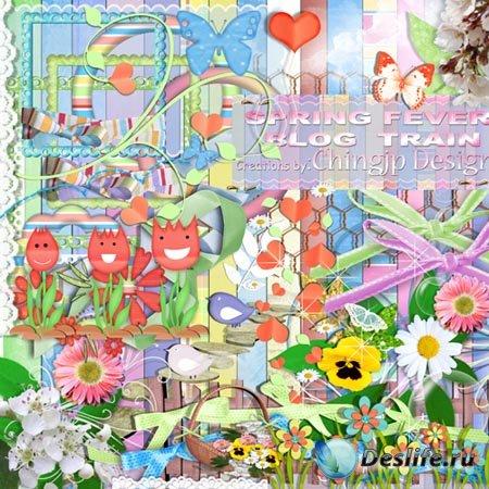 Скрап-набор - Spring fever