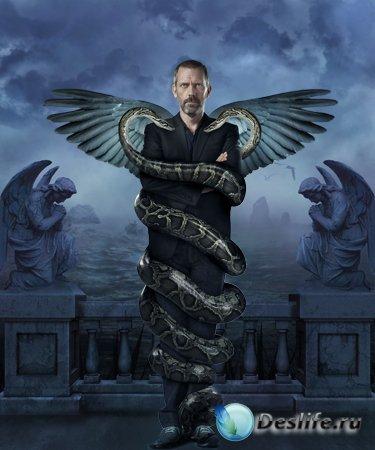 Мужской костюм для фотошопа - Змеи