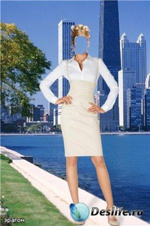 Женский костюм для фотошопа – Деловая дама