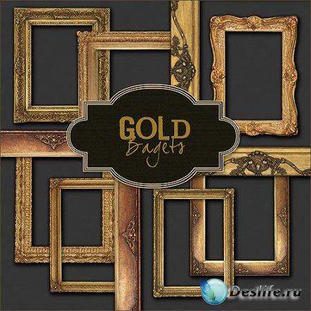Рамки для фото – Набор золотых рамок