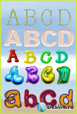 Клипарт - Набор алфавитов 3