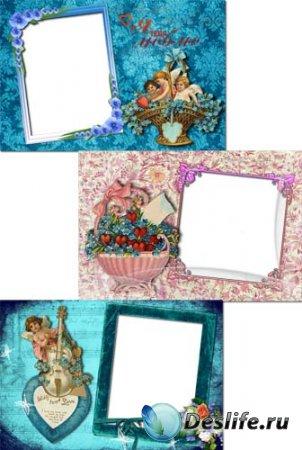 Рамка для фотошопа - Винтажная валентинка