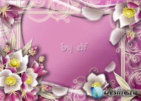 Рамочка для фотошопа - В ожидании весны
