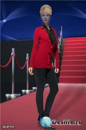 Женский костюм для фотошопа – Красная дорожка