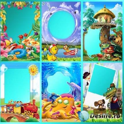 Детские рамки для фотошопа - Cartoon animals