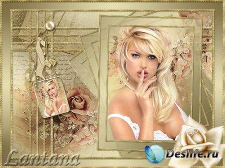 PSD исходник для фотошопа - Роза золотая