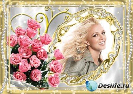 Женская рамочка с розами 2