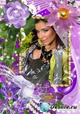 Женская рамка для фотошопа - Цветочное разнообразие
