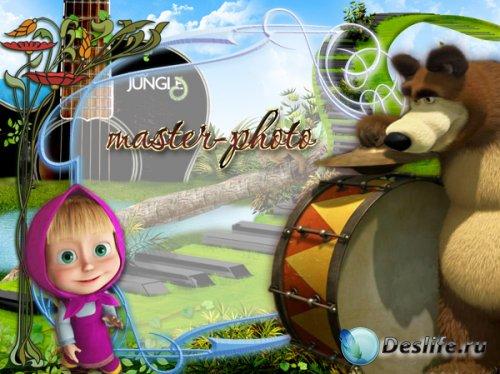 Рамка для фотошопа детская - Музыканты