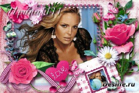 Рамка для фотошопа - Розы для любимой