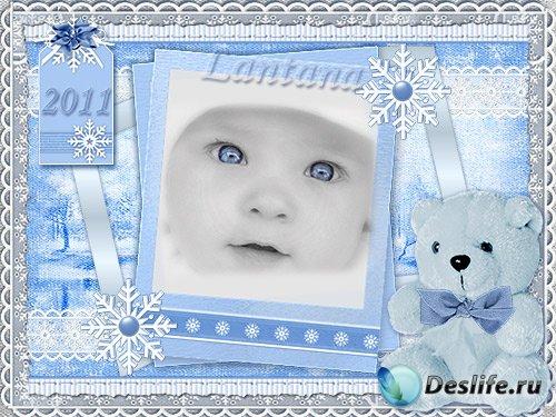 Детскую рамочку - Моя первая зима