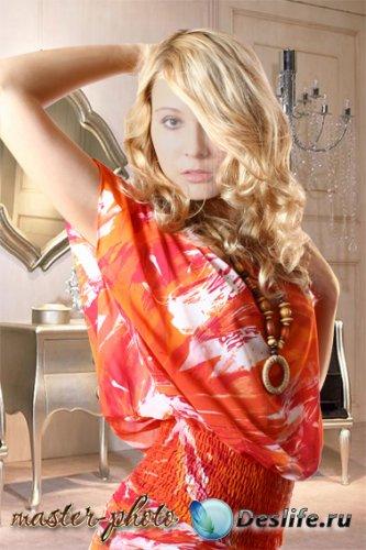 Женский костюм для фотошопа - Страстная блондинка
