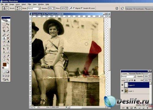Учимся восстанавливать старые фотографии с помощью программы Фотошоп