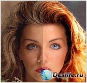 Видеоурок для фотошопа: Изменение цвета волос