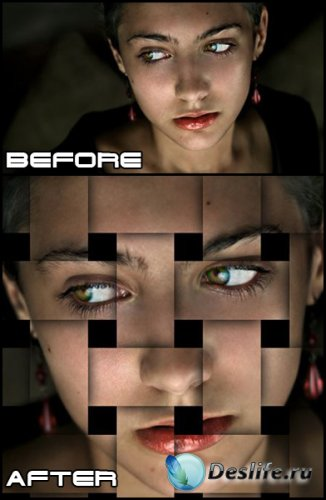 Урок фотошоп - Эффект переплетающихся полос на фотографии