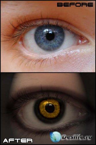 Урок фотошоп - Дьявольские глаза