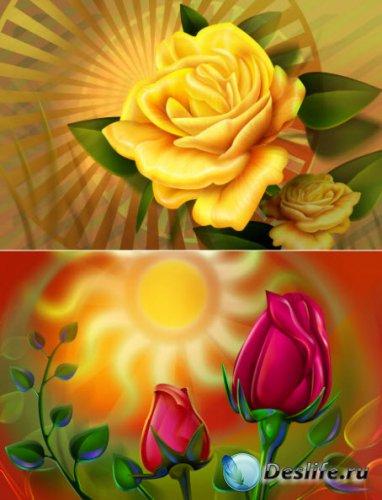 Цветочный фоны для фотошопа. Часть 2