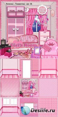 Скрап-набор - Girl's room