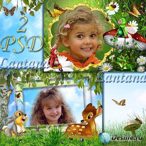 Детские рамочки для фотошопа - Весенние сказки