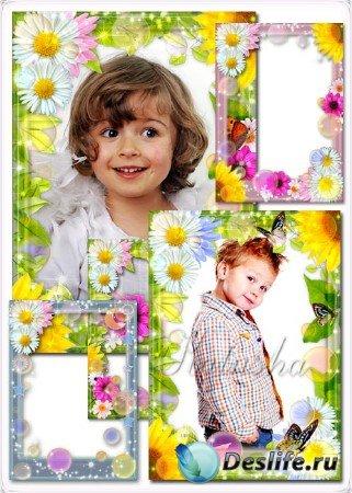 Детские рамочки для фотошопа - Солнечные зайчики