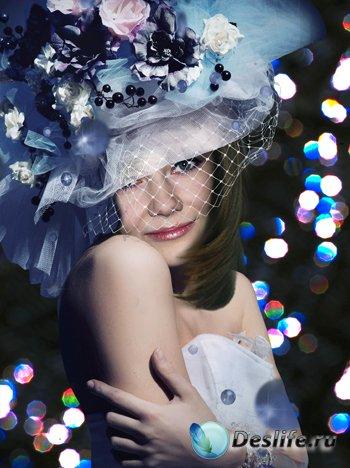 Женский костюм для фотошопа - Вечерний портрет