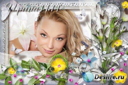 Рамка для фотошопа - Весенний восторг