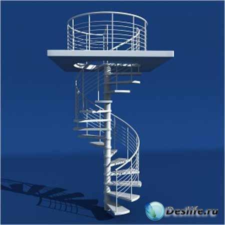 Моделирование винтовой лестницы в 3DsMax