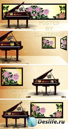 Stock Vector - Piano Design