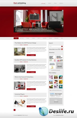Red and White Html Dream Templates