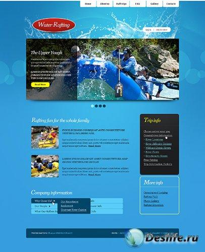 Free Rafting River Website Template