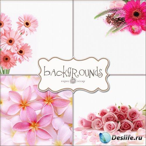 Букеты - Фоны для фотомонтажа (Textures - Bouquets Backgrounds #2)