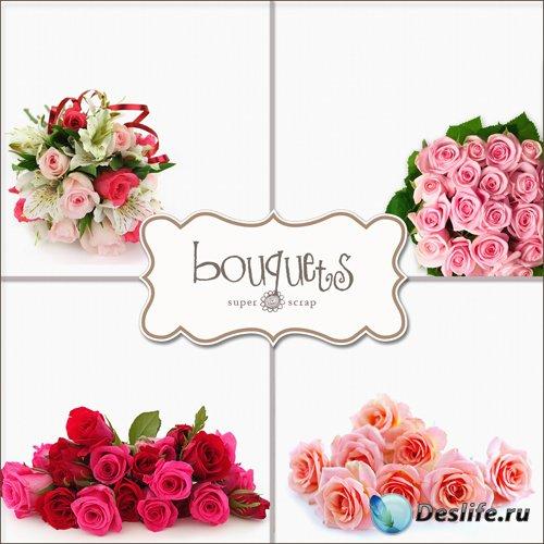 Букеты - Фоны для фотомонтажа (Textures - Bouquets Backgrounds #1)