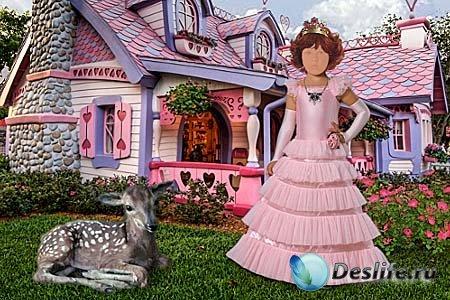 Детский костюм для фотошопа - Девочка из сказки