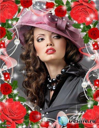Женская рамочка для фотошопа – Миллион алых роз