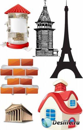 Архитектурные элементы в векторе