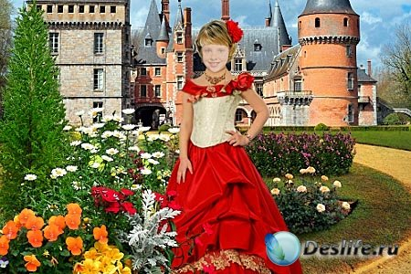 Детский костюм для фотошопа - У замка