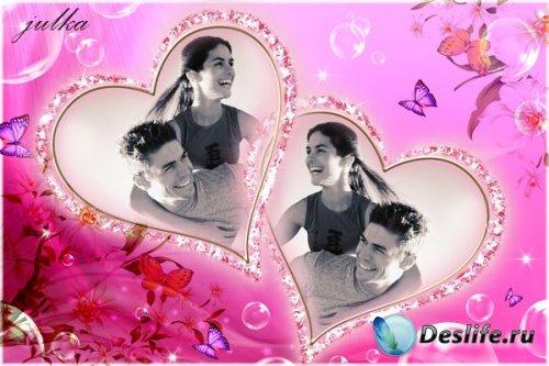 Романтическая рамка для фотошопа - Любовь