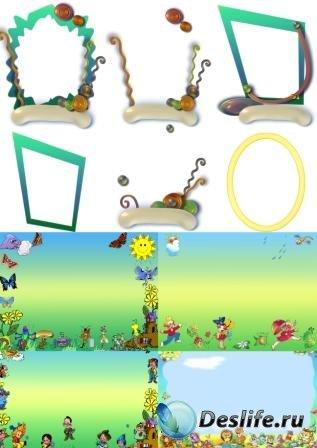 Элементы для создания детских виньеток в фотошопе