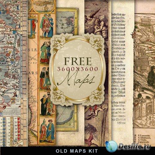 Текстуры - Старые карты (Old Maps #2)