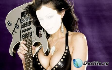 Костюм для фотомонтажа - Девушка с гитарой