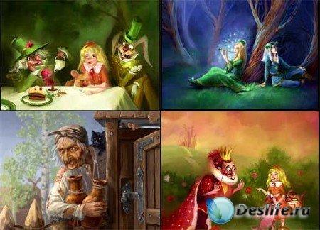 Иллюстрации к милым сердцу сказкам