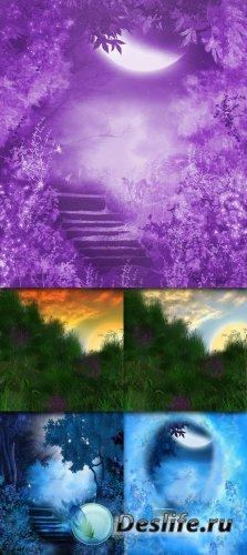 Hilltop and Heavenly - Фоны для фотомонтажа